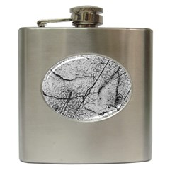 Abstract Background Texture Grey Hip Flask (6 Oz)