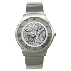 Abstract Background Texture Grey Stainless Steel Watch