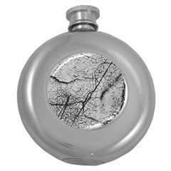 Abstract Background Texture Grey Round Hip Flask (5 Oz)