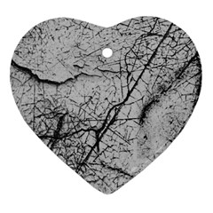 Abstract Background Texture Grey Heart Ornament (two Sides)