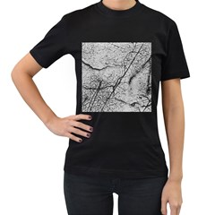 Abstract Background Texture Grey Women s T Shirt (black)