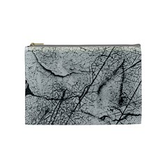 Abstract Background Texture Grey Cosmetic Bag (medium)