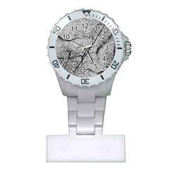 Abstract Background Texture Grey Plastic Nurses Watch