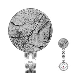 Abstract Background Texture Grey Stainless Steel Nurses Watch