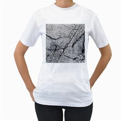 Abstract Background Texture Grey Women s T Shirt (white)
