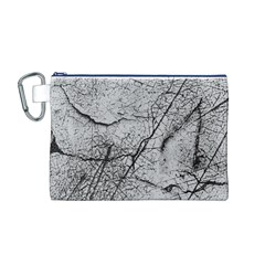 Abstract Background Texture Grey Canvas Cosmetic Bag (m)
