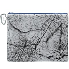Abstract Background Texture Grey Canvas Cosmetic Bag (xxxl)