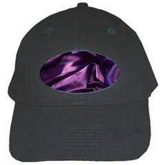 Shiny Purple Silk Royalty Black Cap