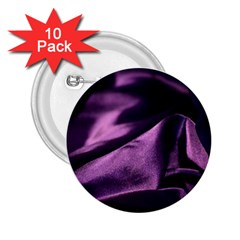 Shiny Purple Silk Royalty 2 25  Buttons (10 Pack)