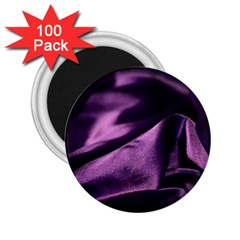 Shiny Purple Silk Royalty 2 25  Magnets (100 Pack)