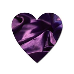 Shiny Purple Silk Royalty Heart Magnet