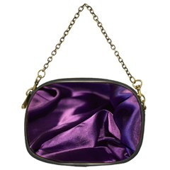 Shiny Purple Silk Royalty Chain Purses (one Side)