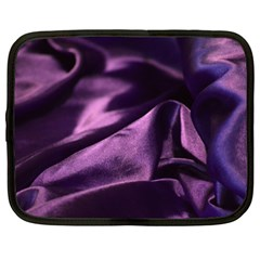 Shiny Purple Silk Royalty Netbook Case (xxl)