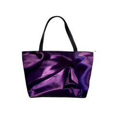 Shiny Purple Silk Royalty Shoulder Handbags