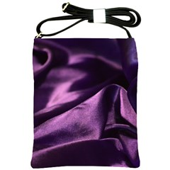 Shiny Purple Silk Royalty Shoulder Sling Bags