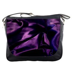 Shiny Purple Silk Royalty Messenger Bags