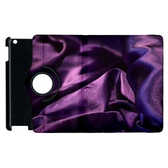 Shiny Purple Silk Royalty Apple Ipad 2 Flip 360 Case