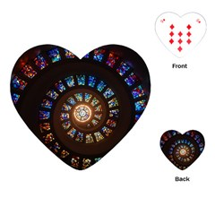 Stained Glass Spiral Circle Pattern Playing Cards (heart)