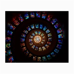 Stained Glass Spiral Circle Pattern Small Glasses Cloth (2 Side)