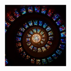 Stained Glass Spiral Circle Pattern Medium Glasses Cloth