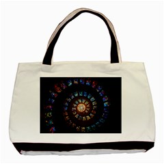 Stained Glass Spiral Circle Pattern Basic Tote Bag (two Sides)