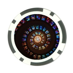 Stained Glass Spiral Circle Pattern Poker Chip Card Guard