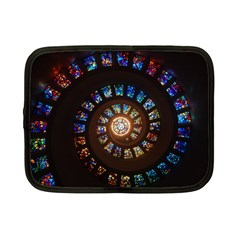 Stained Glass Spiral Circle Pattern Netbook Case (small)