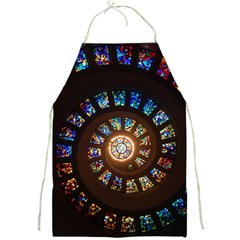 Stained Glass Spiral Circle Pattern Full Print Aprons