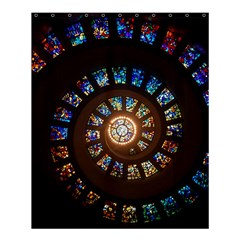 Stained Glass Spiral Circle Pattern Shower Curtain 60  X 72  (medium)