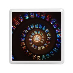 Stained Glass Spiral Circle Pattern Memory Card Reader (square)