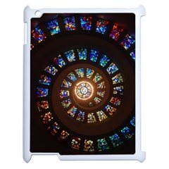 Stained Glass Spiral Circle Pattern Apple Ipad 2 Case (white)