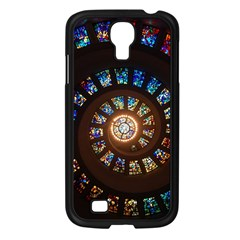 Stained Glass Spiral Circle Pattern Samsung Galaxy S4 I9500/ I9505 Case (black)