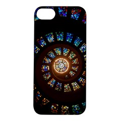 Stained Glass Spiral Circle Pattern Apple Iphone 5s/ Se Hardshell Case