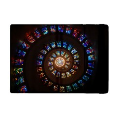 Stained Glass Spiral Circle Pattern Ipad Mini 2 Flip Cases