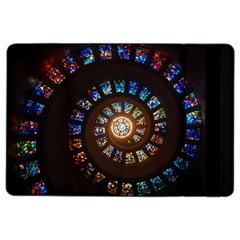 Stained Glass Spiral Circle Pattern Ipad Air 2 Flip