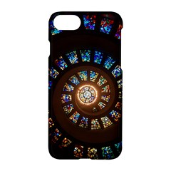 Stained Glass Spiral Circle Pattern Apple Iphone 7 Hardshell Case