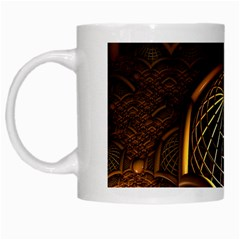 Fractal 3d Render Design Backdrop White Mugs