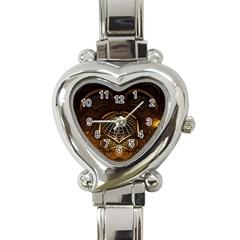 Fractal 3d Render Design Backdrop Heart Italian Charm Watch
