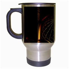 Fractal 3d Render Design Backdrop Travel Mug (silver Gray)