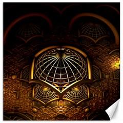 Fractal 3d Render Design Backdrop Canvas 20  X 20