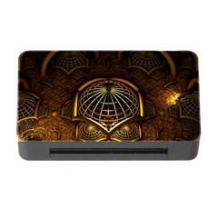 Fractal 3d Render Design Backdrop Memory Card Reader With Cf