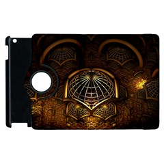 Fractal 3d Render Design Backdrop Apple Ipad 3/4 Flip 360 Case