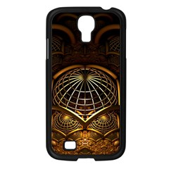 Fractal 3d Render Design Backdrop Samsung Galaxy S4 I9500/ I9505 Case (black)