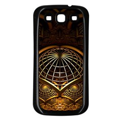 Fractal 3d Render Design Backdrop Samsung Galaxy S3 Back Case (black)