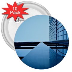 Architecture Modern Building Facade 3  Buttons (10 Pack)