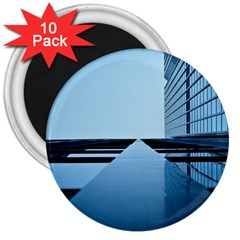Architecture Modern Building Facade 3  Magnets (10 Pack)