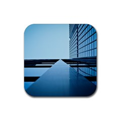 Architecture Modern Building Facade Rubber Coaster (square)