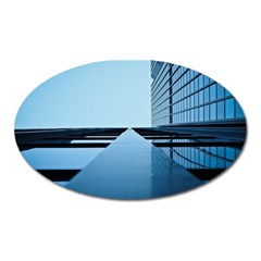Architecture Modern Building Facade Oval Magnet