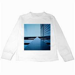 Architecture Modern Building Facade Kids Long Sleeve T Shirts