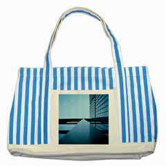 Architecture Modern Building Facade Striped Blue Tote Bag